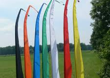 Coloured Bali flags for sale