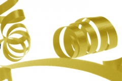 Gold 31 mm poly ribbon