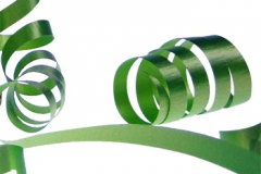 Hunter green 31 mm poly ribbon