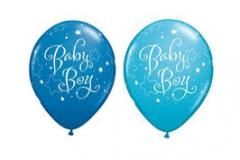 Baby boy print balloons