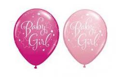 Baby girl print balloons