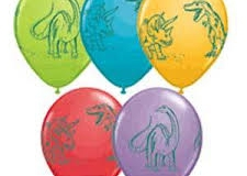 Dinosaur print balloons