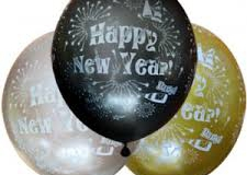 Happy New Year print balloons