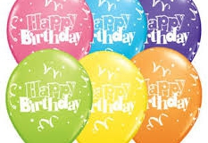 Happy birthday print balloons