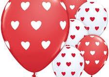 Heart print balloons