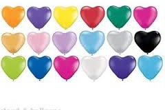 Heart shape balloon colours