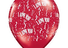 I Love You Qualatex print balloons