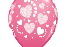I Love You print balloons
