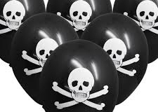 Skull print balloons