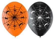 Spider web print balloons