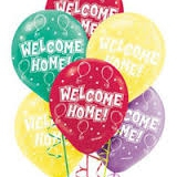 Welcome Home print balloons