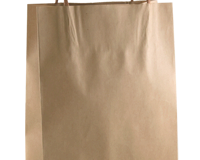 BJ 290mm (High) x 200mm (Wide) + 100mm (Gusset) These feature a Paper handle and are packed in units of 250 per carton.