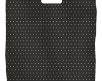 PL21 BLACK BAG GOLD DOTS HDPE LARGE