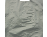 Plastic HDPE Bag 530mm (H) x 415mm (W) Packed in units of 500 per carton in Classic Silver