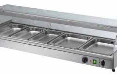 Bain Marie 5 compartments suitable for hot or cold