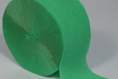 Streamer paper emerald green pkt 4