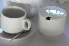 Cup, saucer, teaspoon and sugar bowl