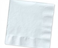 White dinner napkins 2 ply and 3 ply
