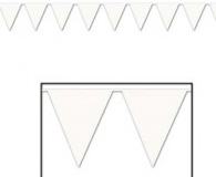 3.65 mtr long plastic white bunting