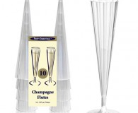 Champagne glasses pkt 10 disposable