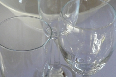 Glass set including Beer, Wine and Champagne