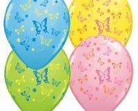 28cm Butterflies Assorted Latex Balloon (Yellow,Pink,Pale Blue,Lime Green)