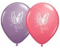 Fairy print latex balloons