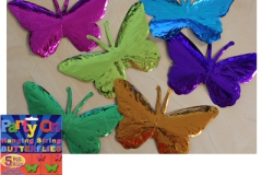 Hanging Butterfly Strings Assorted Colours - Pack of 5