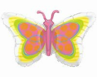 Shape Radiant Butterfly Foil Balloon (98cm) (Self sealing balloon, Requires helium inflation) - Each