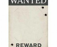Gangster theme wanted poster
