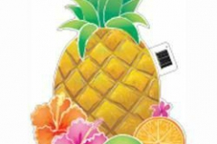 Cutout Luau Pineapple (42cm) Printed Both Sides with full Glossy Finish - Each