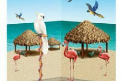 Cutout Props Tiki Hut & Tropical Birds (18cm - 125cm) INSTA-THEME - Pack of 10