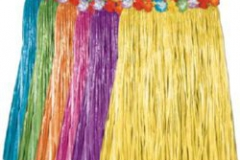 Hula Skirt Artificial Grass - ADULT Assorted Colours Floral