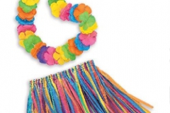 Hula Skirt & Lei Set CHILD - Each