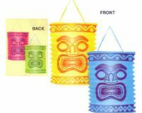 Lanterns Tiki Island (19cm High) - Pack of 2