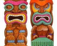 Scene Setter Cutout Tiki Island (84cm x 162cm) - Pack of 2