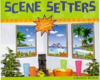 Scene Setter Cutout Window View Luau Tropical (84cm x 53cm) - Pack of 3