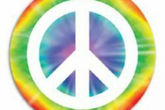 Cutout Peace Sign (33cm) Printed 2 Sides - Each