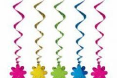Hanging Hippie Decoration Whirls Flower (Approx 100cm Drop) - Pack of 5