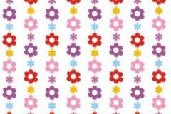 Hippie door curtain flowers