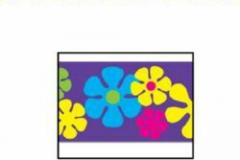 Party Tape Retro Flowers (7.5cm x 6.1m) All-Weather Poly Material - Each
