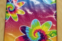 Tablecover Tye-Dye Swirl Plastic (137cm x 213cm) - Each