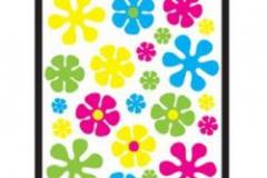 Window Clings Retro Flower (Sheet 31cm x 44cm)