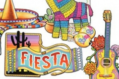 Cutouts Fiesta Assorted Cardboard (40cm) Printed 2 sides - Pack of 4