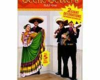 Scene Setter Cutout Dancers & Mariachi (2 x 85cm x 165cm) - Pack of 2
