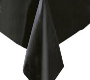 Black rectangle tablecloth