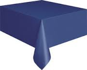 Dark blue rectangle tablecloth