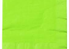 Lime Green coloured napkins