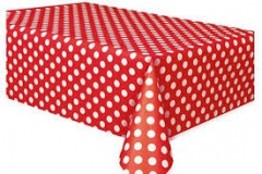 Red and white spot rectangle tablecloth