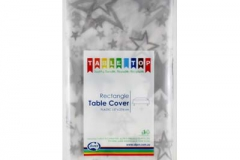 Silver star rectangle tablecloth Alpen